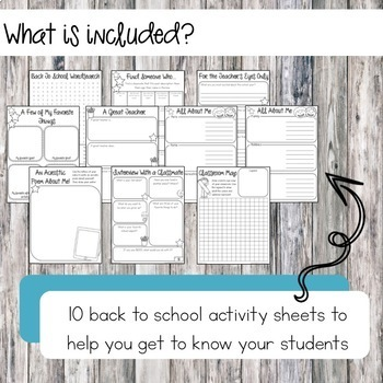 Back To School Tool Kit: a First Week of School Activity Bundle