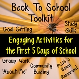 Back To School Activities For the First Week