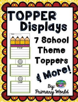 Back To School Toppers and Writing Display