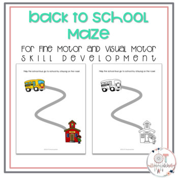 back to school tracing line maze for fine motor and visual motor skills free. Black Bedroom Furniture Sets. Home Design Ideas