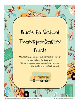 Back To School Transportation Pack