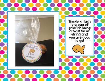 Open House Goldfish Themed Treat Labels *FREE* (Grades K-5)