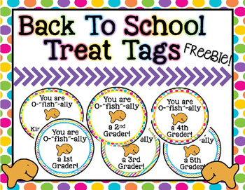 Open House Goldfish Themed Treat Labels *FREE* (Grades K-5)