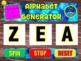 Back To School Tutor Time Alphabet Generator