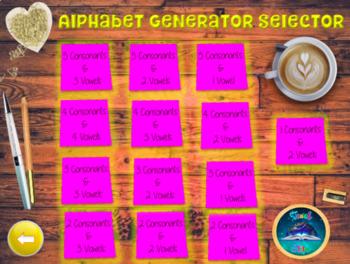 Tutor Time Alphabet Generator