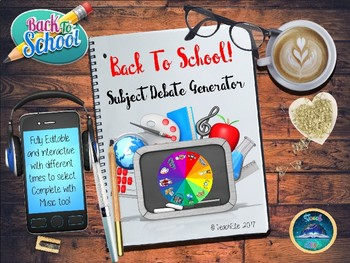 Back To School / Tutor Time - Subject Debate Generator