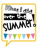Back To School - Twitter & Instagram Sheets - What I did over the summer!