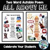 BACK TO SCHOOL Two Word AutoBio Poem