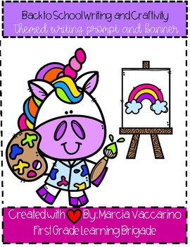 Back To School Unicorn Writing and Banner