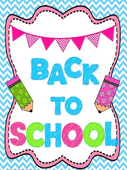Back To School Unit!!