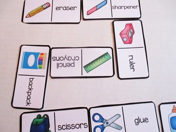 Back To School Vocabulary Games for Early Finishers