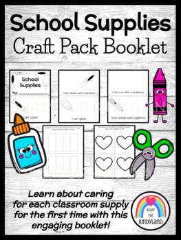 School Supply Vocabulary Booklets FREEBIE and PREVIEW