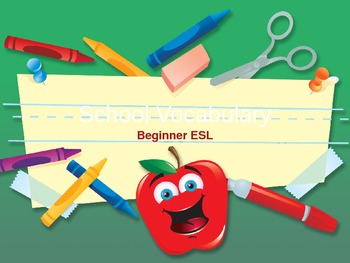 Back To School Vocabulary Powerpoint ESL/ELL Beginner