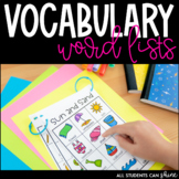 Back To School | Vocabulary Word Lists | Writing for K, Gr