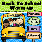 Back To School - First Grade Printables