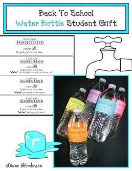 Back To School Water Bottle Gift