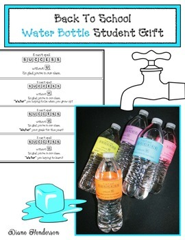 Back To School Water Bottle Gift