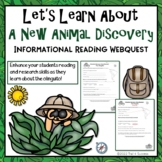 A New Animal Discovery Webquest - Meet the Olinguito