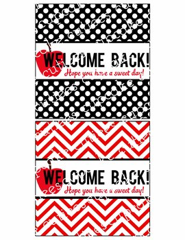 Back To School- Welcome Back Digital Candy Wrappers