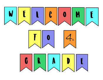 Back To School Welcome Banner - Color