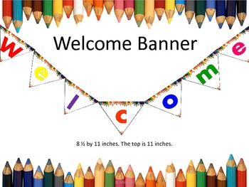 Back To School Welcome Banner Colored Pencils Border