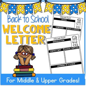Back To School Welcome Letter