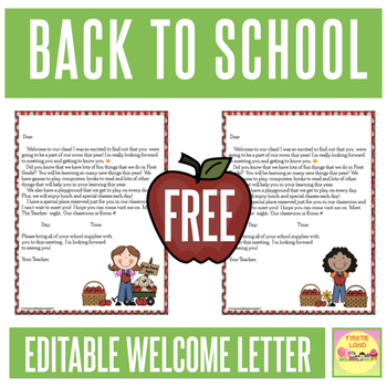 Welcome letter template teaching resources teachers pay teachers back to school welcome letter template back to school welcome letter template altavistaventures Gallery