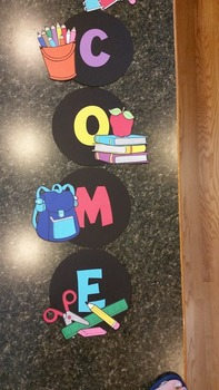 Back To School Welcome Sign
