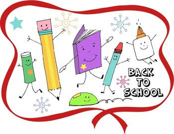 Back To School - Welcome Sign and Coloring Page ** ORIGINA