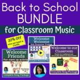 Back To School Songs and Activities   Welcome Songs   3 Original Song Packages