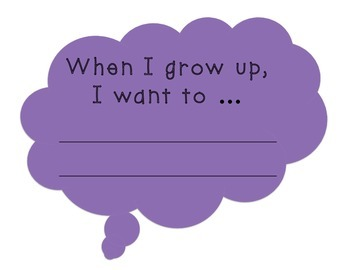 "Back To School: ""When I Grow Up"" Signs"