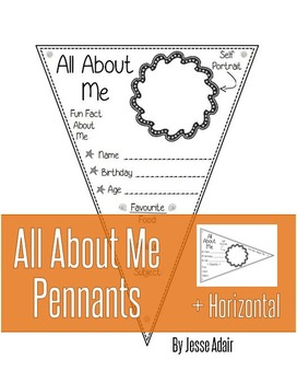 Back To School Activities: All About Me Pennants