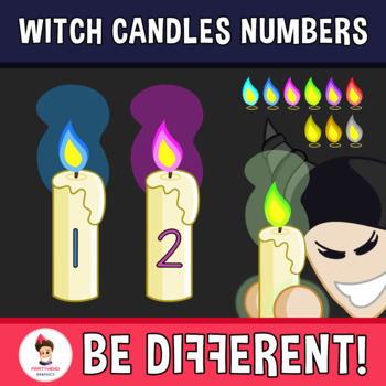 Back To School - Witch Candles Numbers Clipart