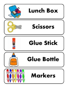 Back To School Word Cards