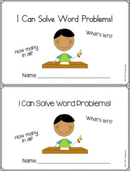 Back To School Word Problems for 2nd Grade Common Core Aligned