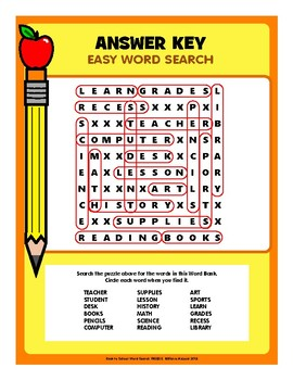 Back-To-School Word Search Freebie