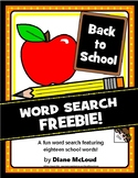 Back To School Word Search FREEBIE!