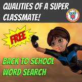 Back To School Word Search FREE