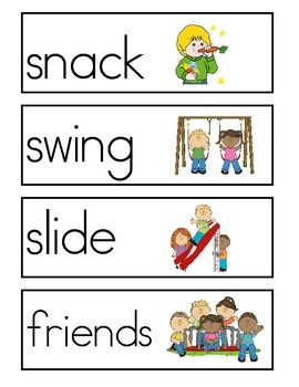 Back To School Word Wall Vocabulary Cards