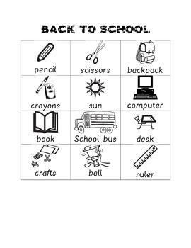 Back To School Words