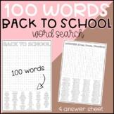 Back To School Wordsearch