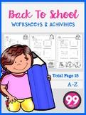 Back To School Worksheets & Activities