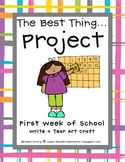 Back To School Write + Tear Art Craft