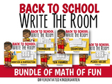 Back To School Write The Room Big Bundle of Math Fun-Diffe