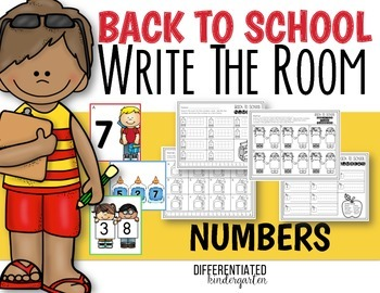 Back To School Write The Room Number Practice-Differentiated and Aligned