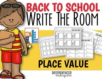 Back To School Write The Room Place Value Practice-Differentiated and Aligned