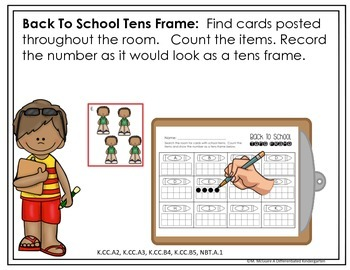 Back To School Write The Room for Counting-Differentiated and Aligned
