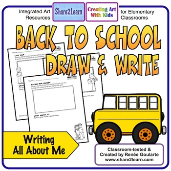 Back To School Writing Draw and Write