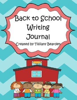 Back To School Writing Journal