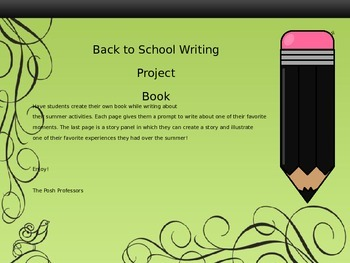 Back To School Writing Project Book